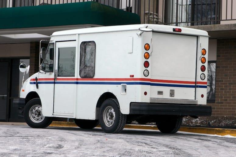Mail Truck, Postal Truck, Parked, Street