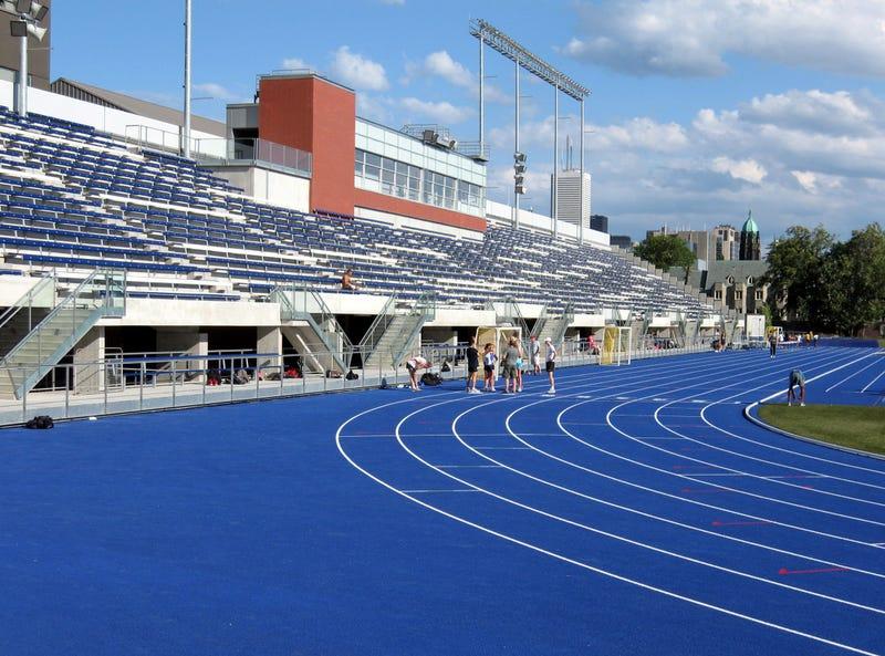 Outdoor sports stadium