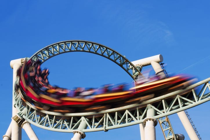 Roller Coaster, Amusement Park