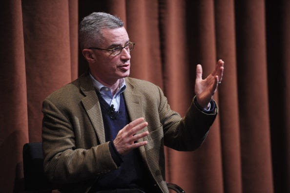 Film subject, former NJ Governor Jim McGreevey takes part in a Q&A following the the New York premiere of the HBO documentary Fall to Grace at Time Warner Center Screening Room on March 21, 2013 in New York City.