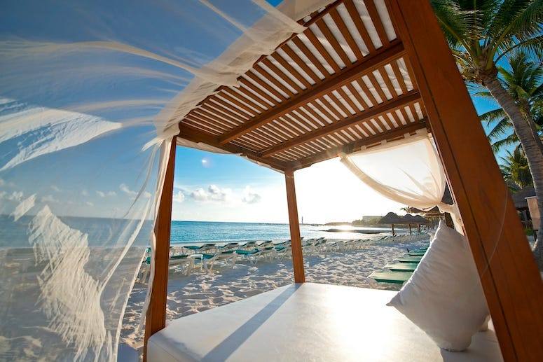 Beach Cabana, Mexico, Beach, Bed