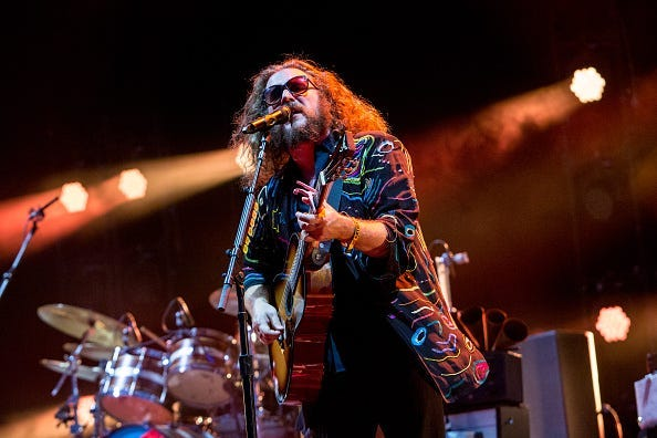 MANCHESTER, TN - JUNE 13:  Jim James of My Morning Jacket performs during the Bonnaroo Music & Arts Festival on June 13, 2015 in Manchester, Tennessee.  (Photo by Josh Brasted/WireImage)