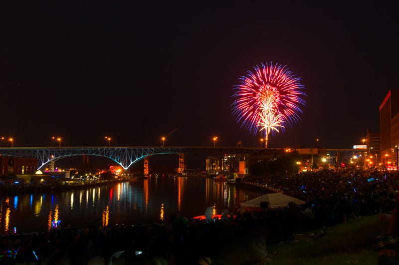 Lake Erie and Cuyahoga River fireworks