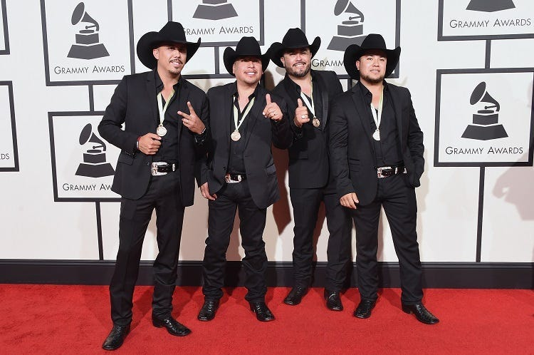 La Maquinaria Nortena attends The 58th GRAMMY Awards at Staples Center on February 15, 2016 in Los Angeles, California.