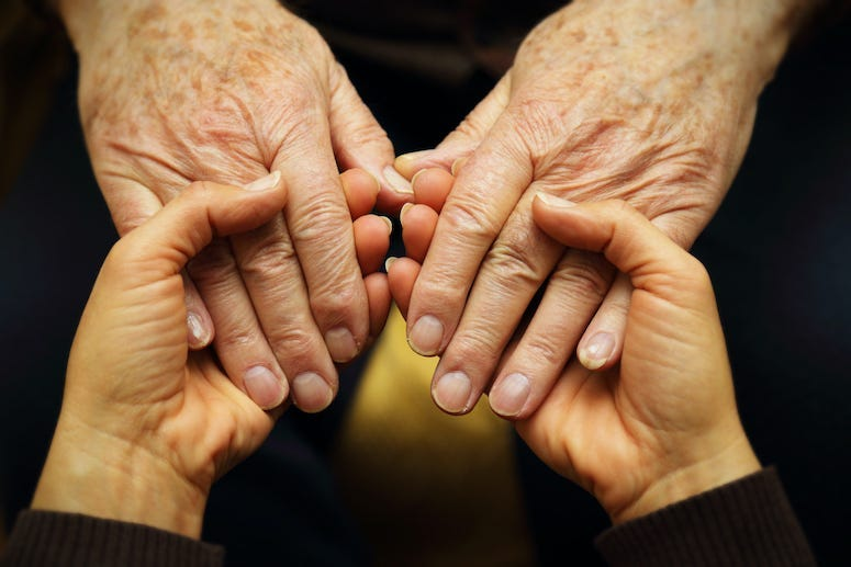 Hands, Holding Hands, Old, Young