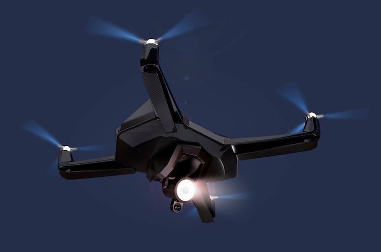 Drone, Flying, Night, Sky, Dark