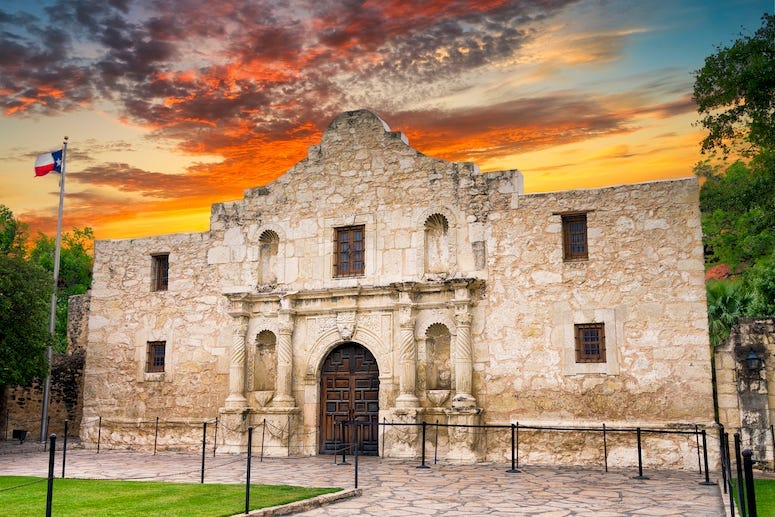 Alamo, Texas, Sunset, San Antonio