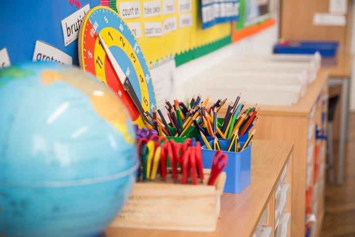 Elementary school classroom
