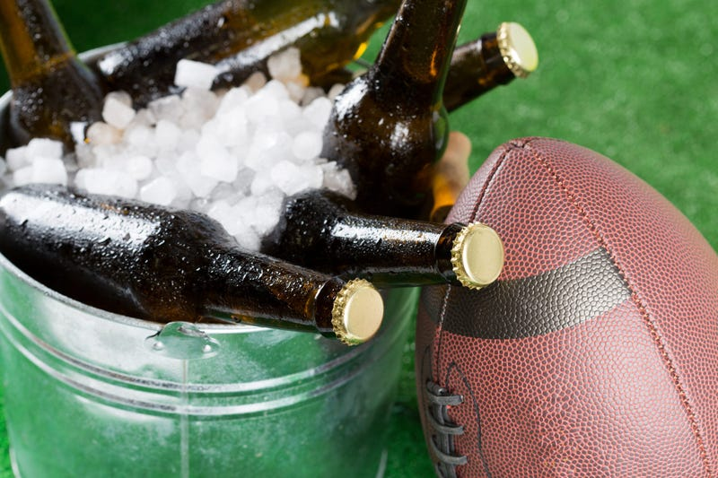 football and beer