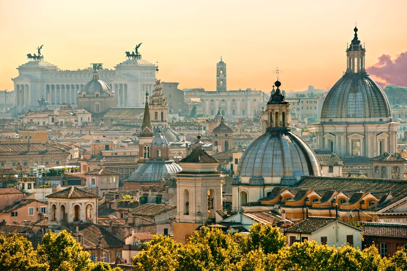 View of Rome, Italy, from the Castel Sant'Angelo