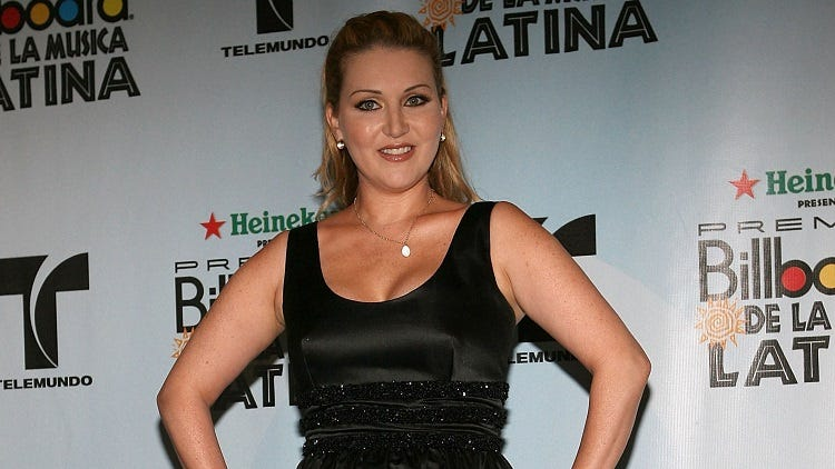 Singer Alicia Villa Real poses in the press room at the 2006 Billboard Latin Music Awards at the Seminole Hard Rock Hotel & Casino on April 27, 2006 in Hollywood Florida.
