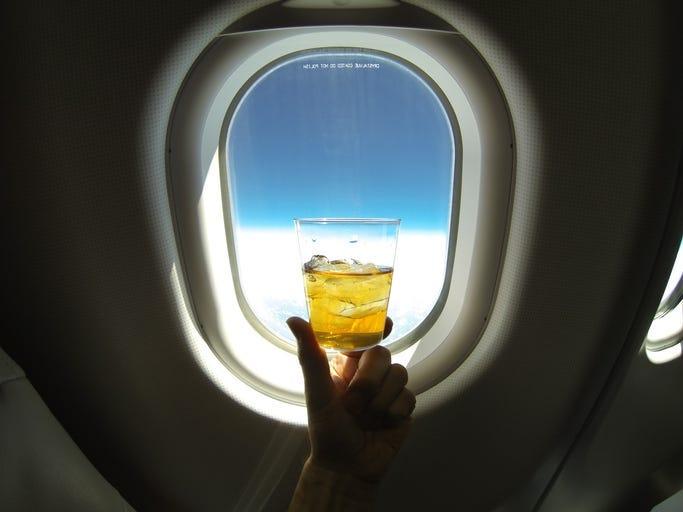 drink on plane