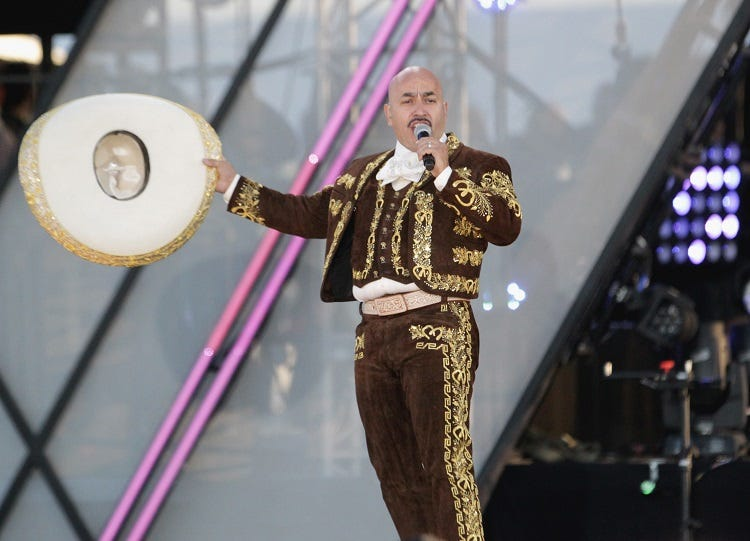 Singer/songwriter Lupillo Rivera performs onstage at Univision and Fusion host RiseUp AS ONE at Cross Border Xpress on October 15, 2016 in San Diego, California.