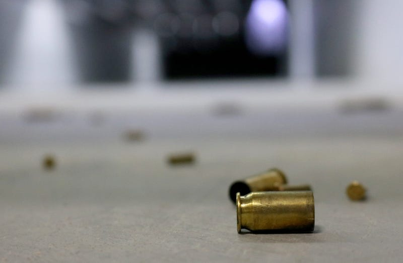 Spent bullet casings on the ground