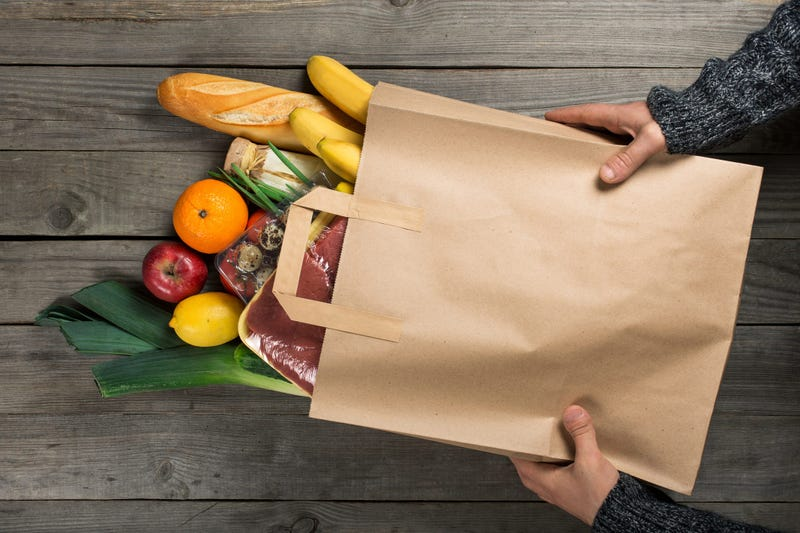Food in a grocery bag