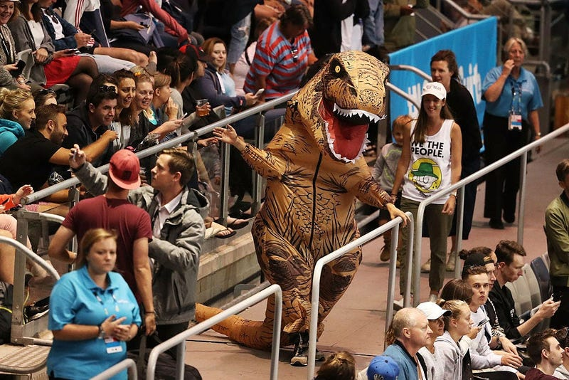 Inflatable T-Rex Suit