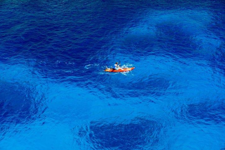 Kayaking in beautiful bay - Mallorca, Cala Figuera