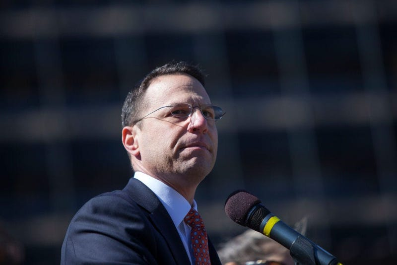 Pennsylvania Attorney General Josh Shapiro at a Stand Against Hate rally at Independence Mall on March 2, 2017 in Philadelphia, Pennsylvania.