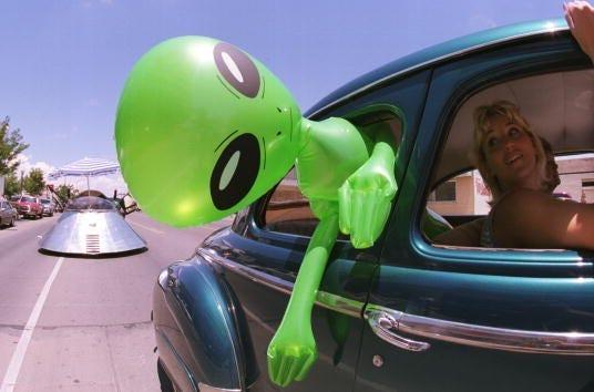 Alien doll in Roswell