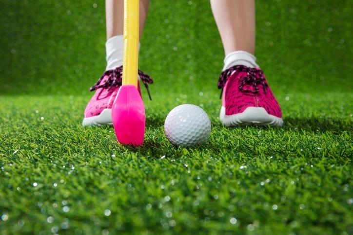Child golfer