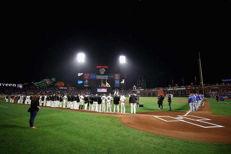 SF Giants pre-game ceremony