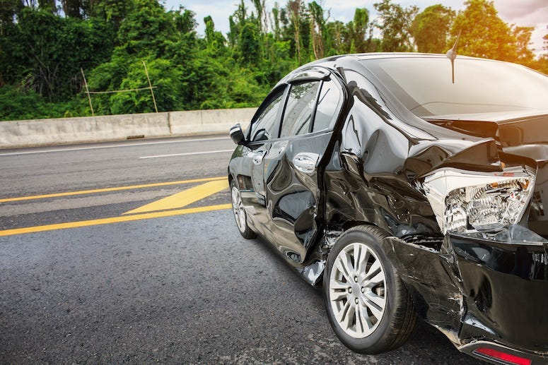 Car Crash, Accident, Road, Highway