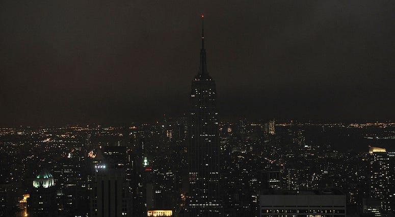 Empire State Building dark