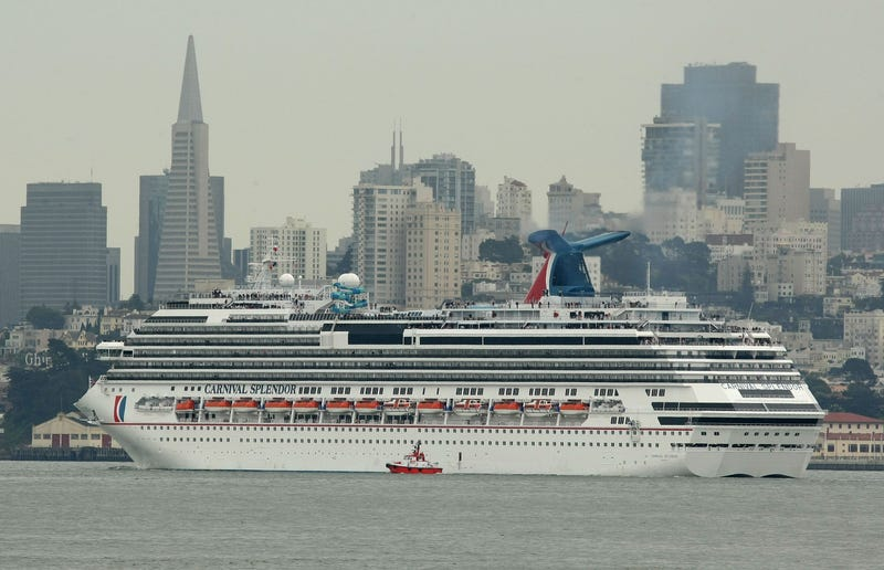 The Carnival Splendor cruise ship arrives in the San Francisco Bay May 1, 2009 in San Francisco.