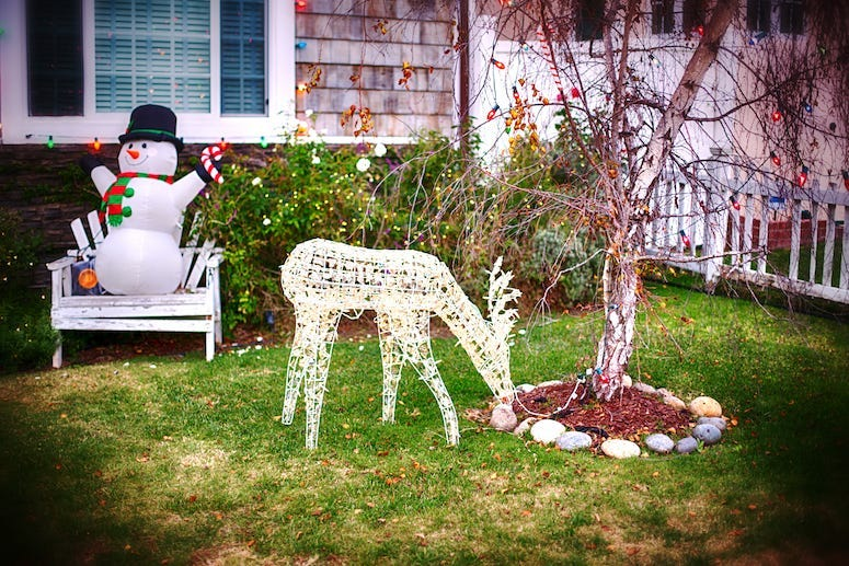 Christmas, Lawn, Decorations, Front Yard