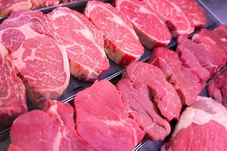 Raw Steaks, Tray