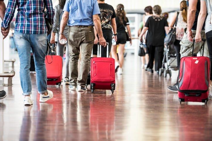 Travelers in Airport