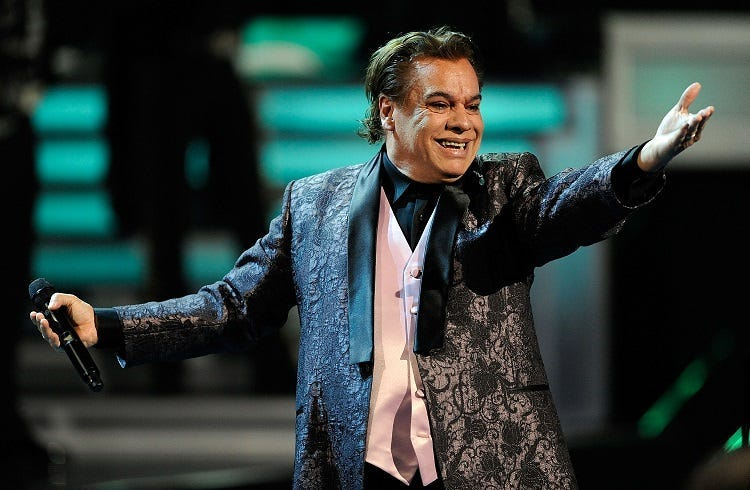 Singer Juan Gabriel performs onstage during the 10th annual Latin GRAMMY Awards held at Mandalay Bay Events Center on November 5, 2009 in Las Vegas, Nevada.