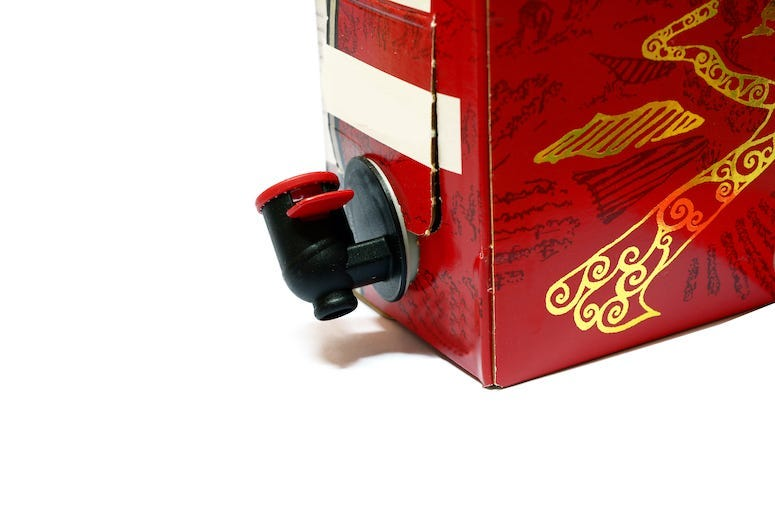 Box Wine, Boxed Wine, Paper Box, Red Wine