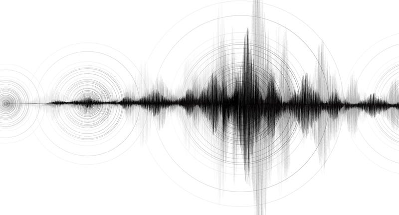 Earthquake frequency wave graph