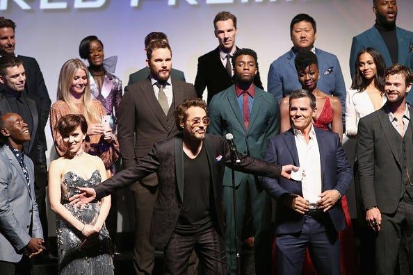 Cast of Avengers Infinity War