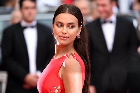 "Model Irina Shayk attends the screening of ""Sorry Angel (Plaire, Aimer Et Courir Vite)"" during the 71st annual Cannes Film Festival at Palais des Festivals on May 10, 2018 in Cannes, France."