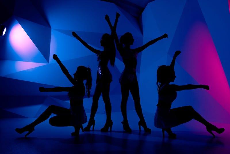 Dance team silhouettes