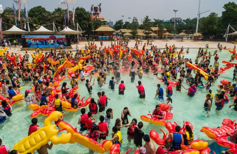 Wuhan, China Water Park (GETTY)