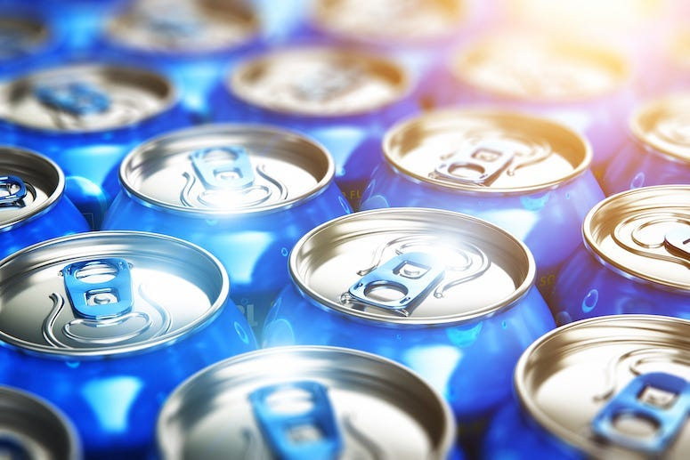 Cans, Soda, Beer, Blue Cans, Tabs