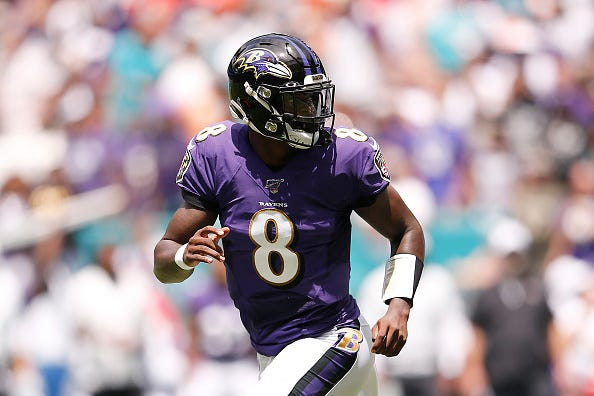 Lamar Jackson threw five touchdowns in Week 1.