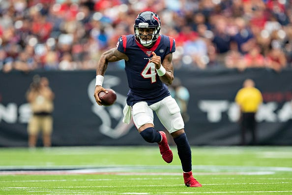 Deshaun Watson and the Texans will host the Falcons in Week 5.