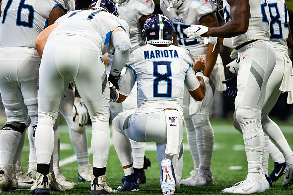 Marcus Mariota and the Titans are 2-2.