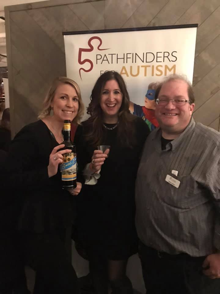 Gina Crash with Katie Ramirez and Neal Lichter From Pathfinders For Autism