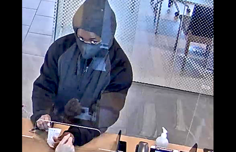 The FBI says this surveillance photo shows Glenesha Currie robbing a TCF Bank branch at 4160 S. Archer Ave. on Oct. 7, 2020.