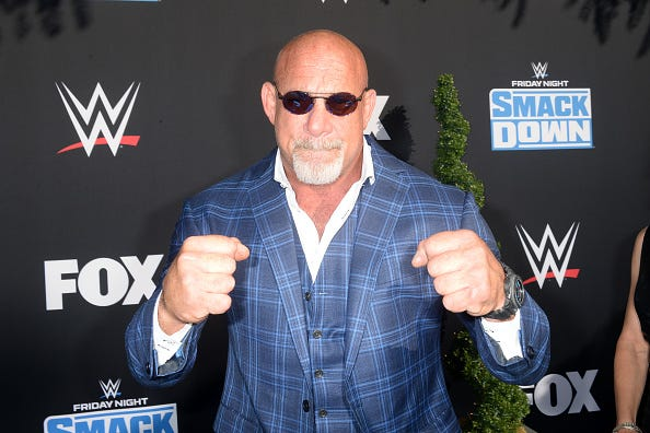 Goldberg attends a WWE Friday Night SmackDown premiere.