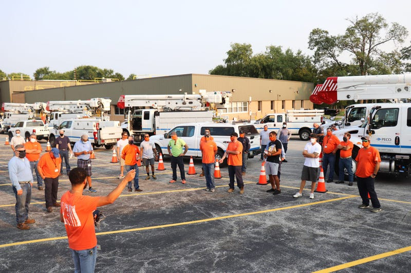 PECO power restoration crews heading down to Texas after Hurricane Laura