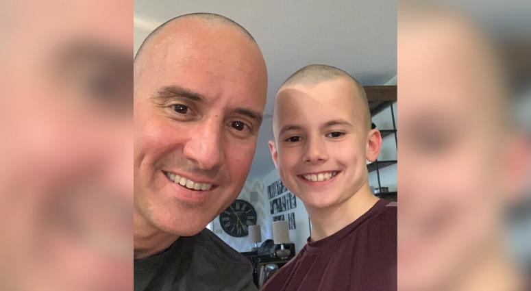Jim Sanfilippo and son do haircut challenge