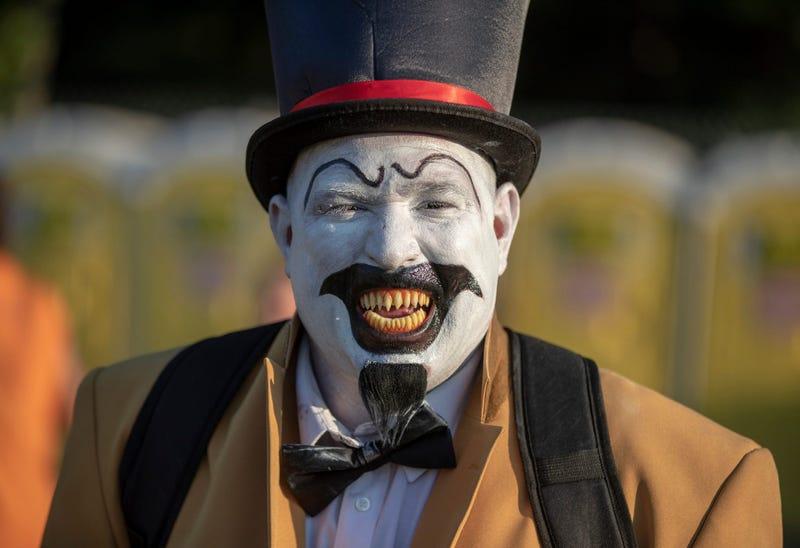 A fan of Insane Clown Posse in horror makeup