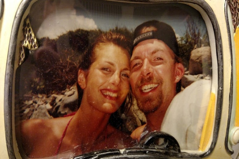 Happy honeymoon moment Tortola BVI