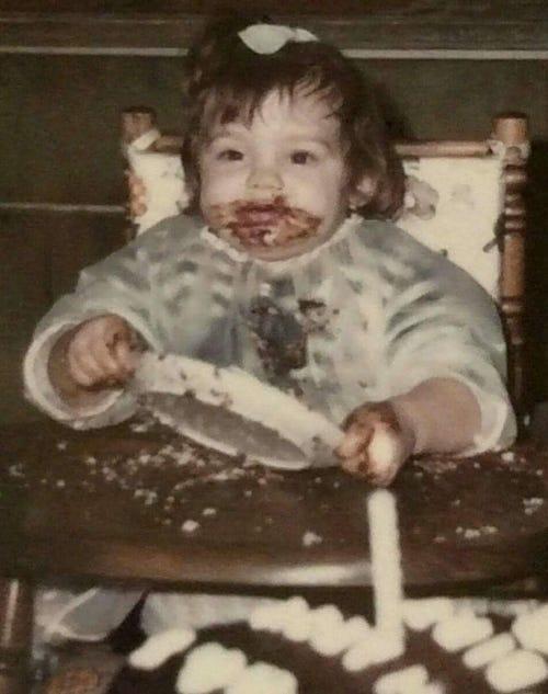 Heather's 1st birthday chocolate cake